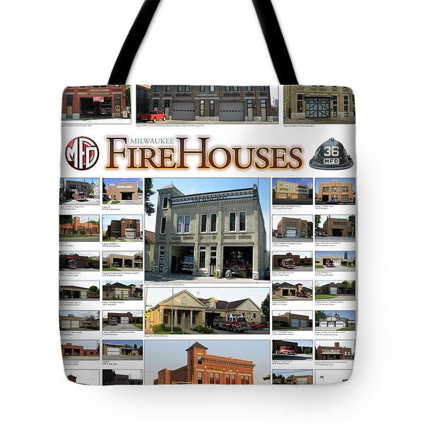 Milwaukee Fire Houses Tote Bag