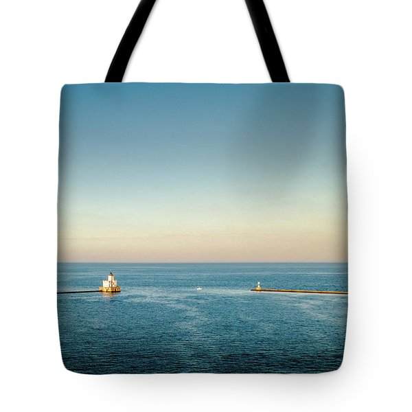 Tote Bag featuring the photograph Milwaukee Harbor by Randy Scherkenbach