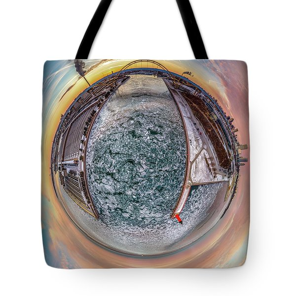 Milwaukee River Little Planet Tote Bag