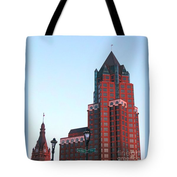 Milwaukee Sundown Tote Bag by Ann Horn