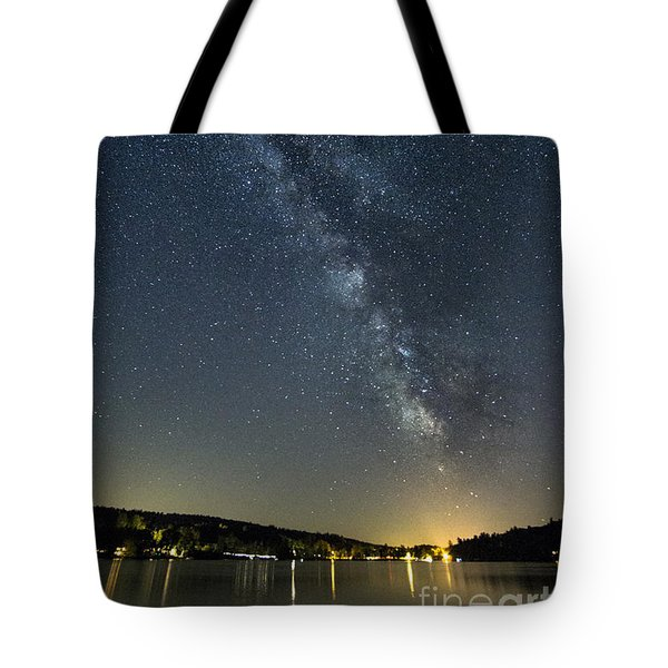 Milky Way From A Pontoon Boat Tote Bag