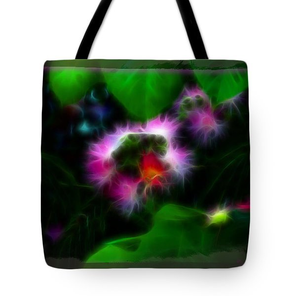 Tote Bag featuring the photograph Mimosa Flower by EricaMaxine  Price