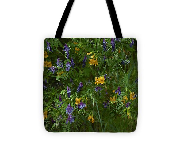 Mimulus And Vetch Tote Bag by Doug Herr
