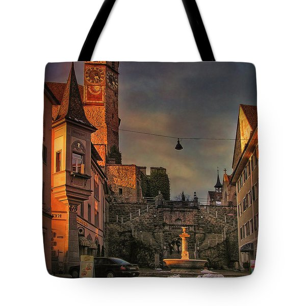 Tote Bag featuring the photograph Main Square by Hanny Heim