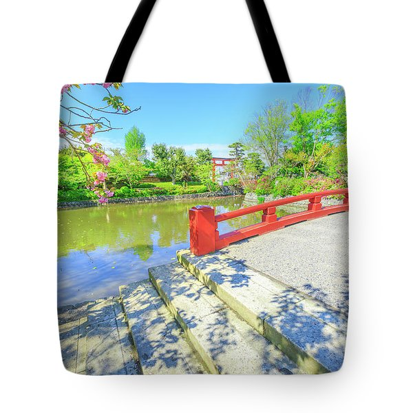 Tote Bag featuring the photograph Minamoto Lake In Kamakura by Benny Marty