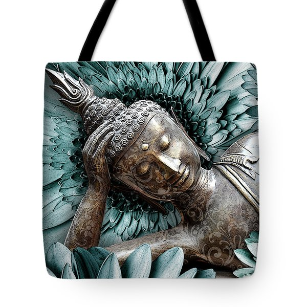 Tote Bag featuring the mixed media Mind Bloom by Christopher Beikmann