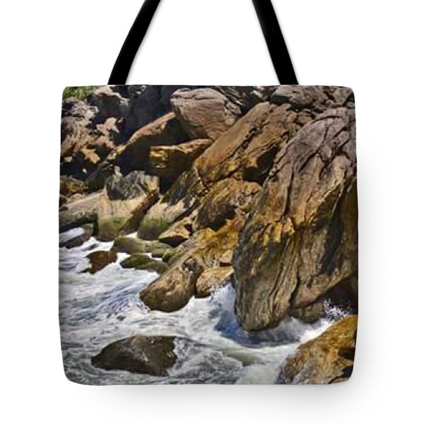 Brazilian Sea Cliffs - Guaruja - Sao Paulo Tote Bag