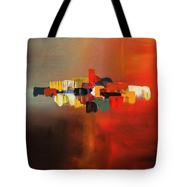 Tote Bag featuring the painting Mindful - Abstract Art by Carmen Guedez
