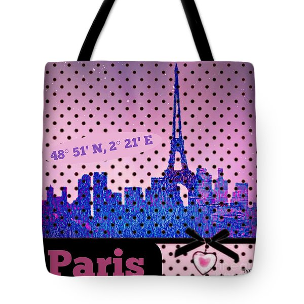 Tote Bag featuring the digital art Mindy Jo's Paris  by Mindy Bench
