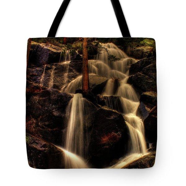 Quaking Aspen Falls Along Tioga Pass  Tote Bag