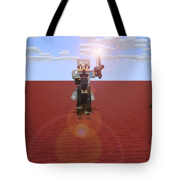 Minecraft Knight Tote Bag