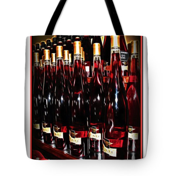 Tote Bag featuring the photograph Miner Pink Sparkling Wine by Joan  Minchak
