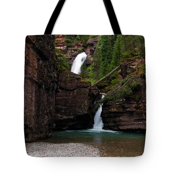 Tote Bag featuring the photograph Mineral Creek Falls by Steve Stuller