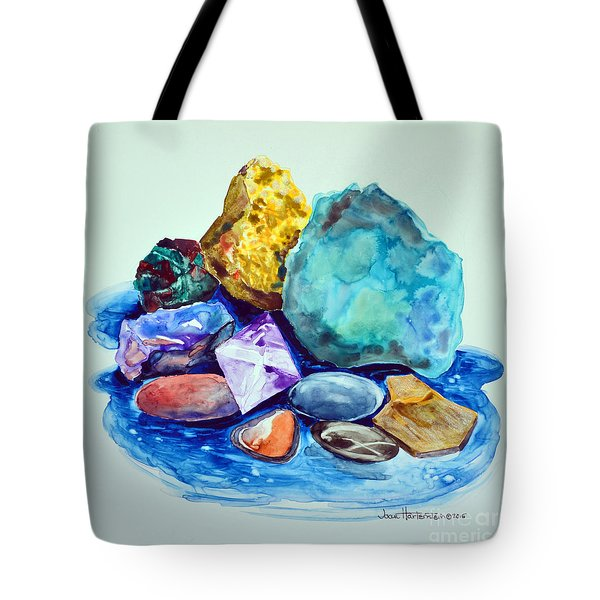 Minerals And Beachstones Tote Bag by Joan Hartenstein