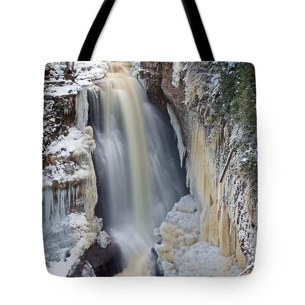Miners Falls In The Snow Tote Bag