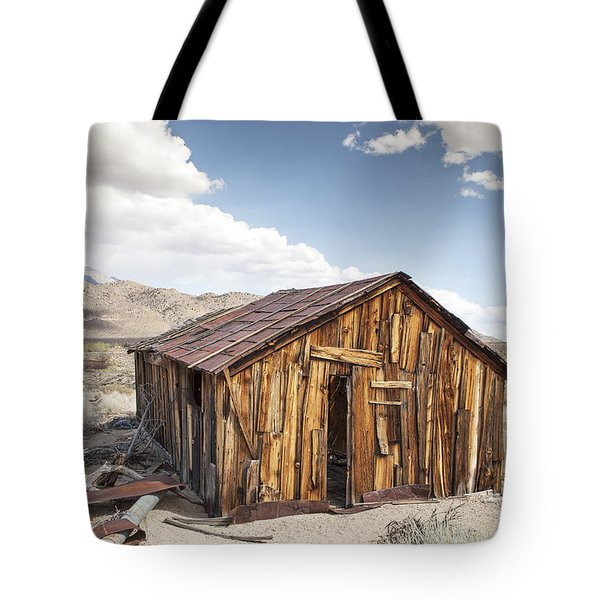 Miner's Shack In Benton Hot Springs Tote Bag
