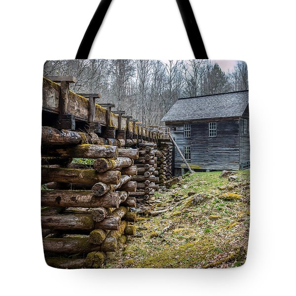 Mingus Millrace And Mill In Late Winter Tote Bag