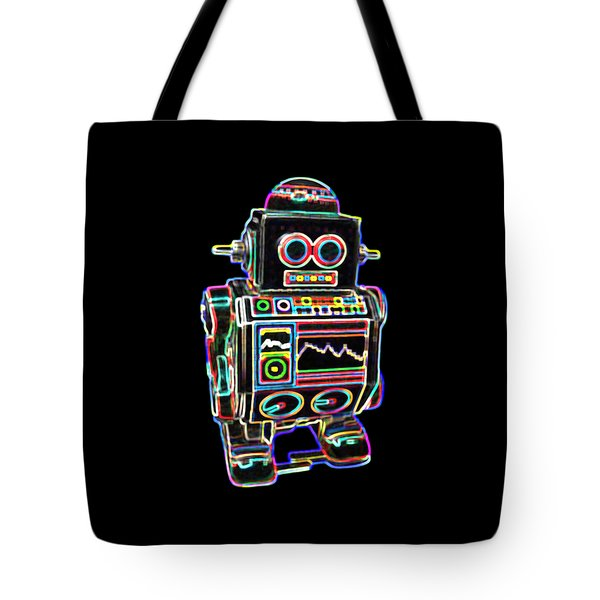 Mini D Robot Tote Bag by DB Artist