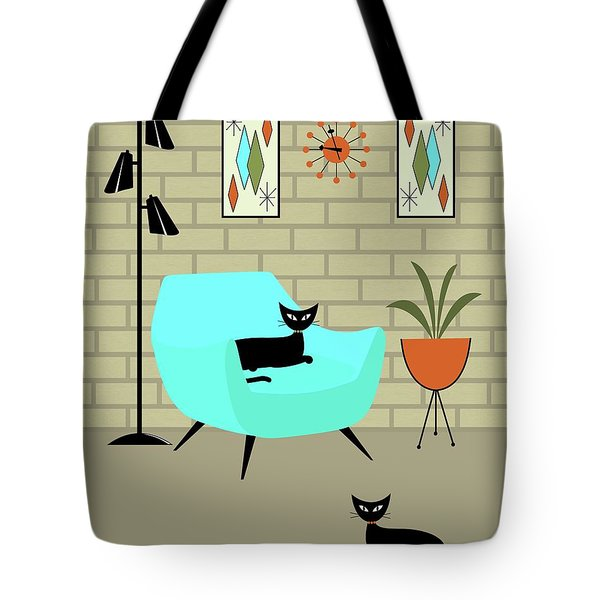 Tote Bag featuring the digital art Mini Gravel Art With Brick Wall by Donna Mibus