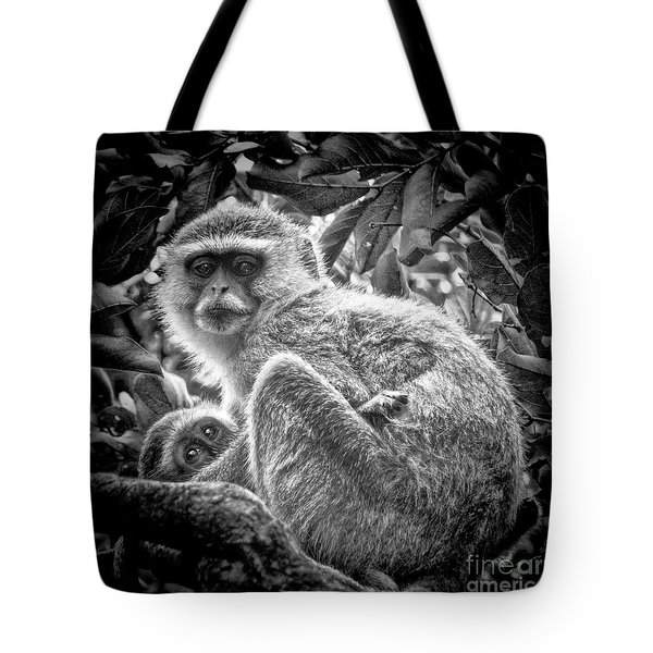 Mini Me Monkey Tote Bag by Karen Lewis