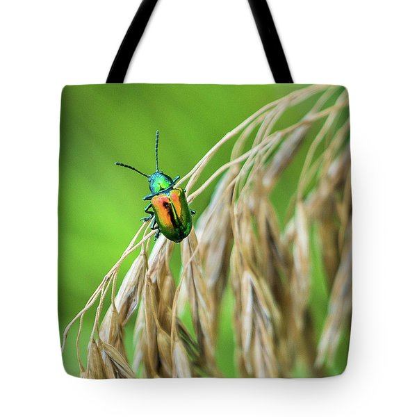 Tote Bag featuring the photograph Mini Metallic Magnificence  by Bill Pevlor
