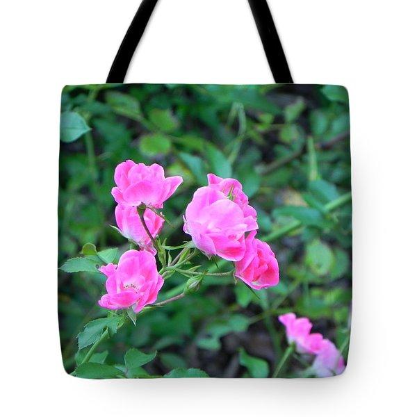 Mini Roses Tote Bag by John Parry