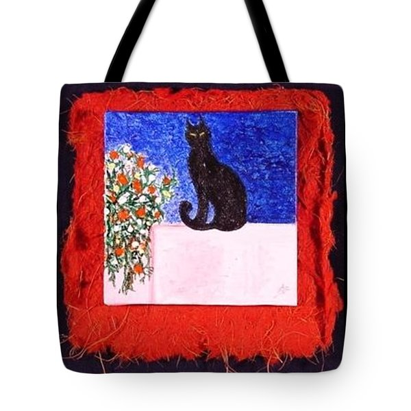 Miniature. Black Cat Tote Bag