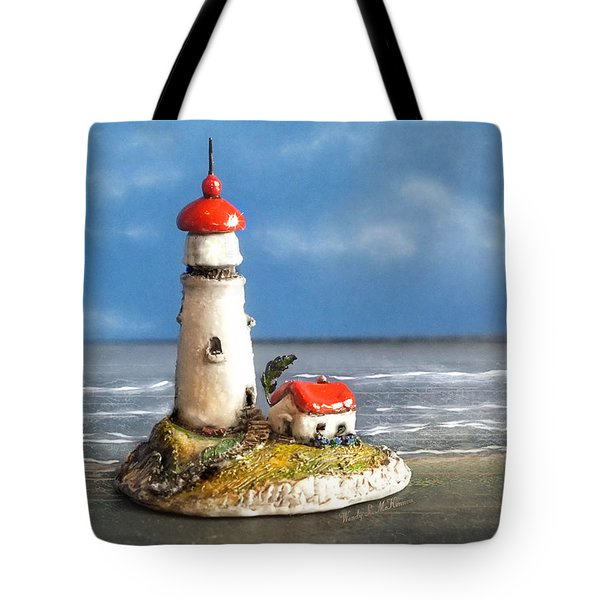 Miniature Lighthouse Tote Bag