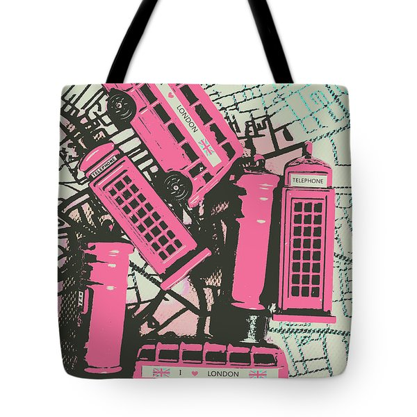 Miniature London Town Tote Bag