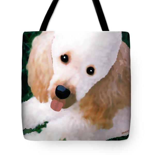 Miniature Poodle Albie Tote Bag by Marian Cates