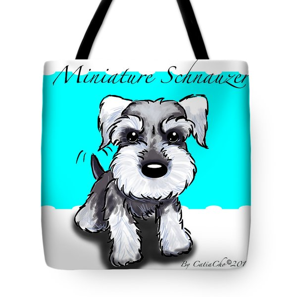 Miniature Schnauzer Tote Bag by Catia Cho
