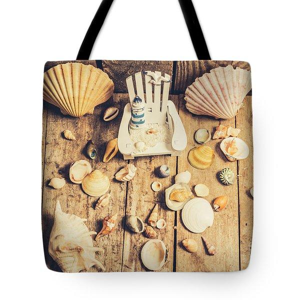 Miniature Sea Escape Tote Bag
