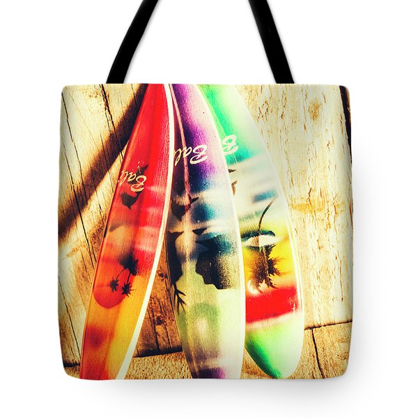 Miniature Surfboard Decorations Tote Bag