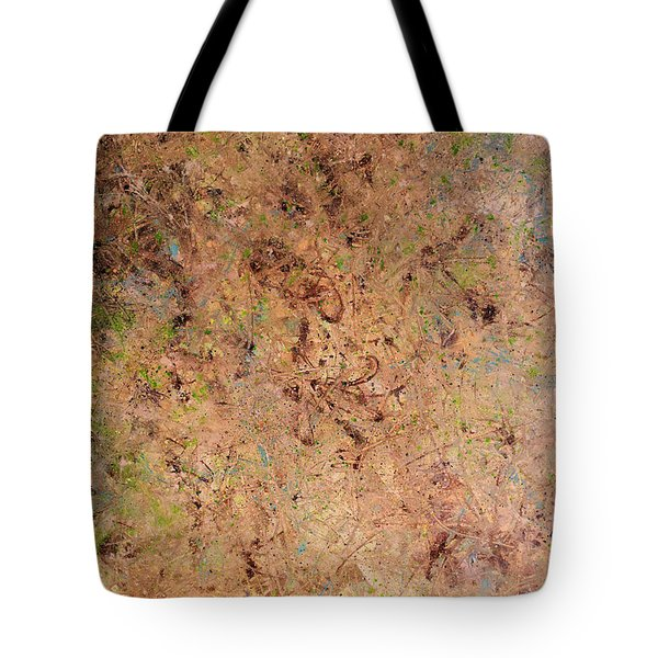 Tote Bag featuring the painting Minimal 7 by James W Johnson