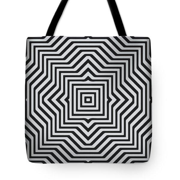 Minimal Geometrical Optical Illusion Style Pattern In Black White T-shirt  Tote Bag