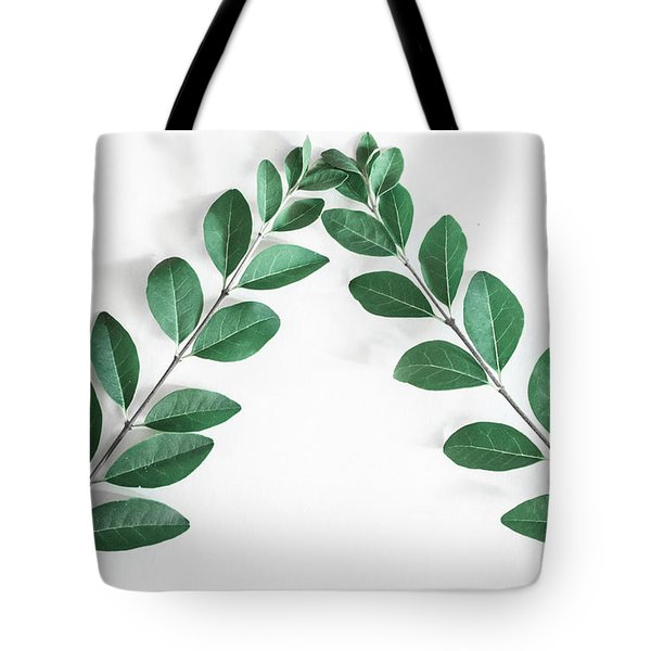 Tote Bag featuring the photograph Minimal Green 2 by Andrea Anderegg
