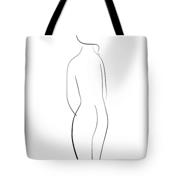 Minimal Line Drawing Of A Nude Woman Tote Bag