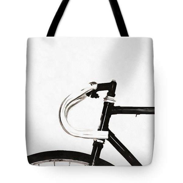 Minimalist Bicycle Painting Tote Bag