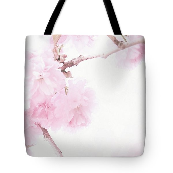 Minimalist Cherry Blossoms Tote Bag