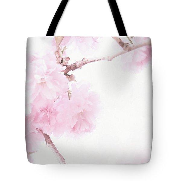Minimalist Cherry Blossoms Tote Bag