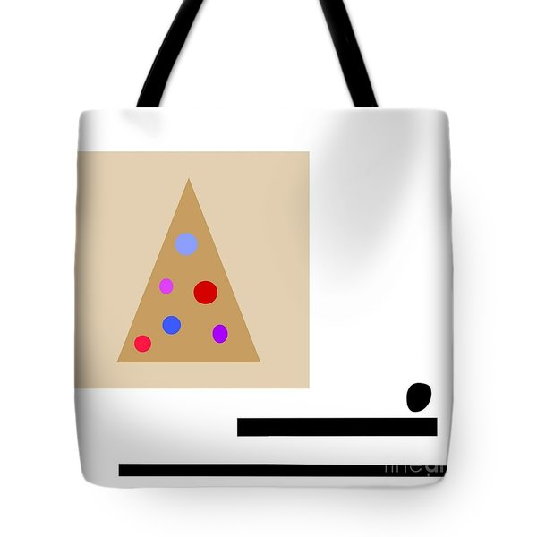 Tote Bag featuring the digital art Minimalistic Christmas by Jessica Eli