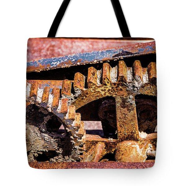 Mining Gears Tote Bag by Onyonet  Photo Studios