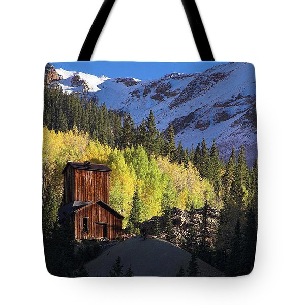 Tote Bag featuring the photograph Mining Ruins by Steve Stuller