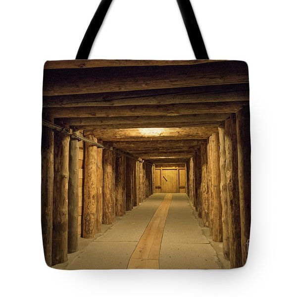Tote Bag featuring the photograph Mining Tunnel by Juli Scalzi