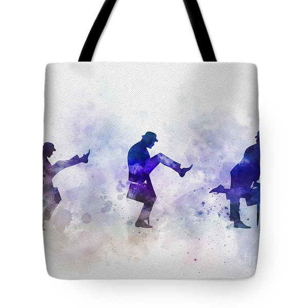 Ministry Of Silly Walks Tote Bag by Rebecca Jenkins