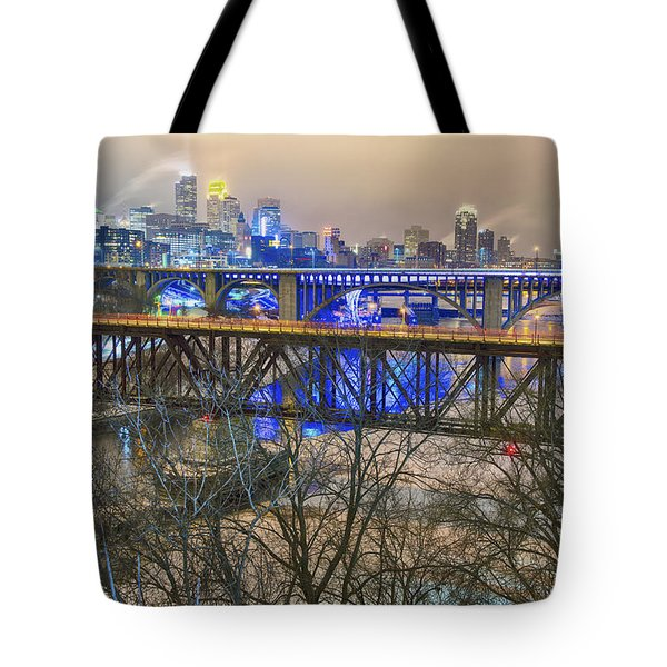Minneapolis Bridges Tote Bag