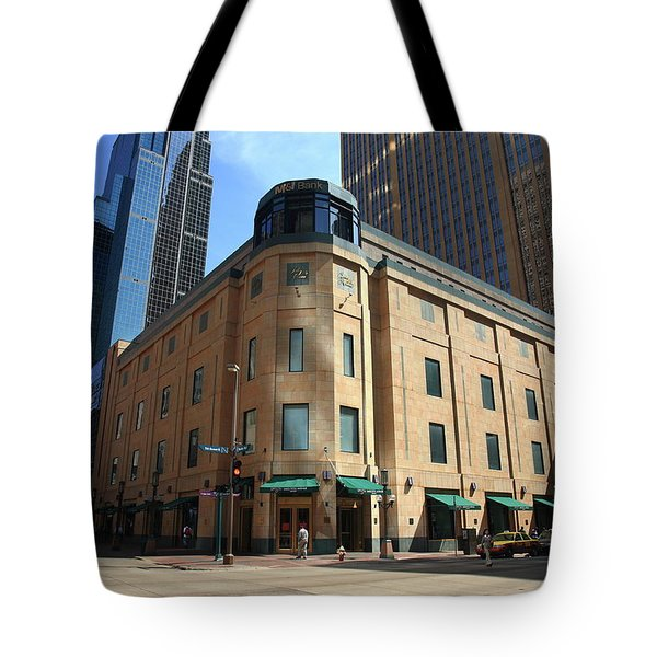 Tote Bag featuring the photograph Minneapolis Downtown by Frank Romeo