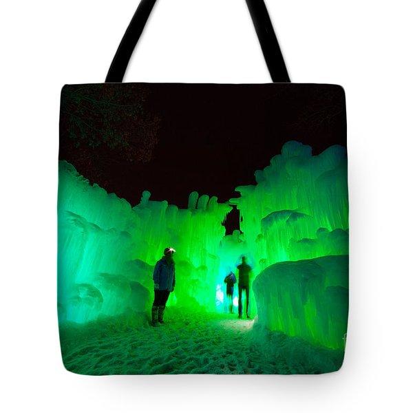 Ice Castles Of Minnesota Tote Bag
