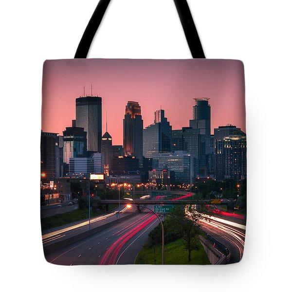 Minneapolis In Motion Tote Bag