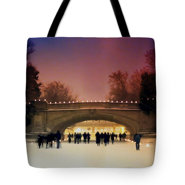Minneapolis Loppet At Night Tote Bag